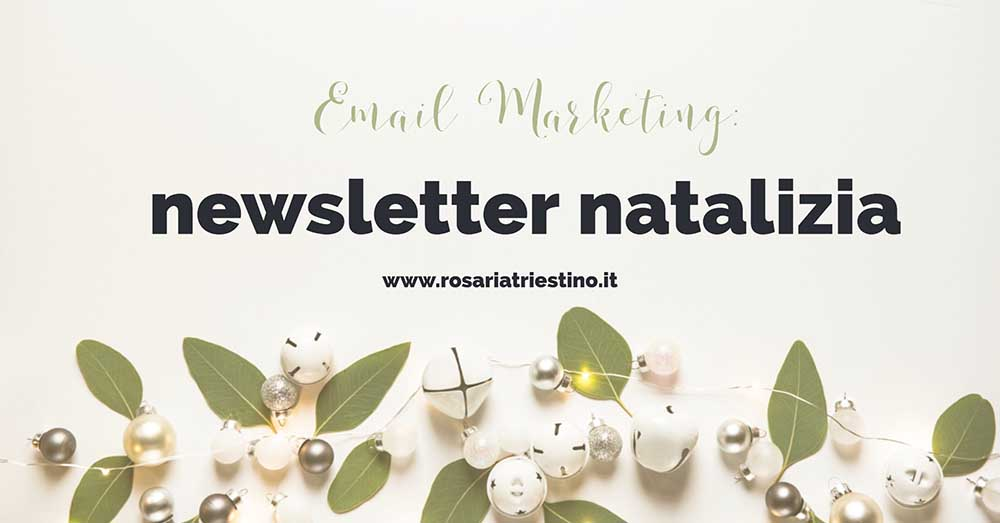 Email marketing: Newsletter di Natale